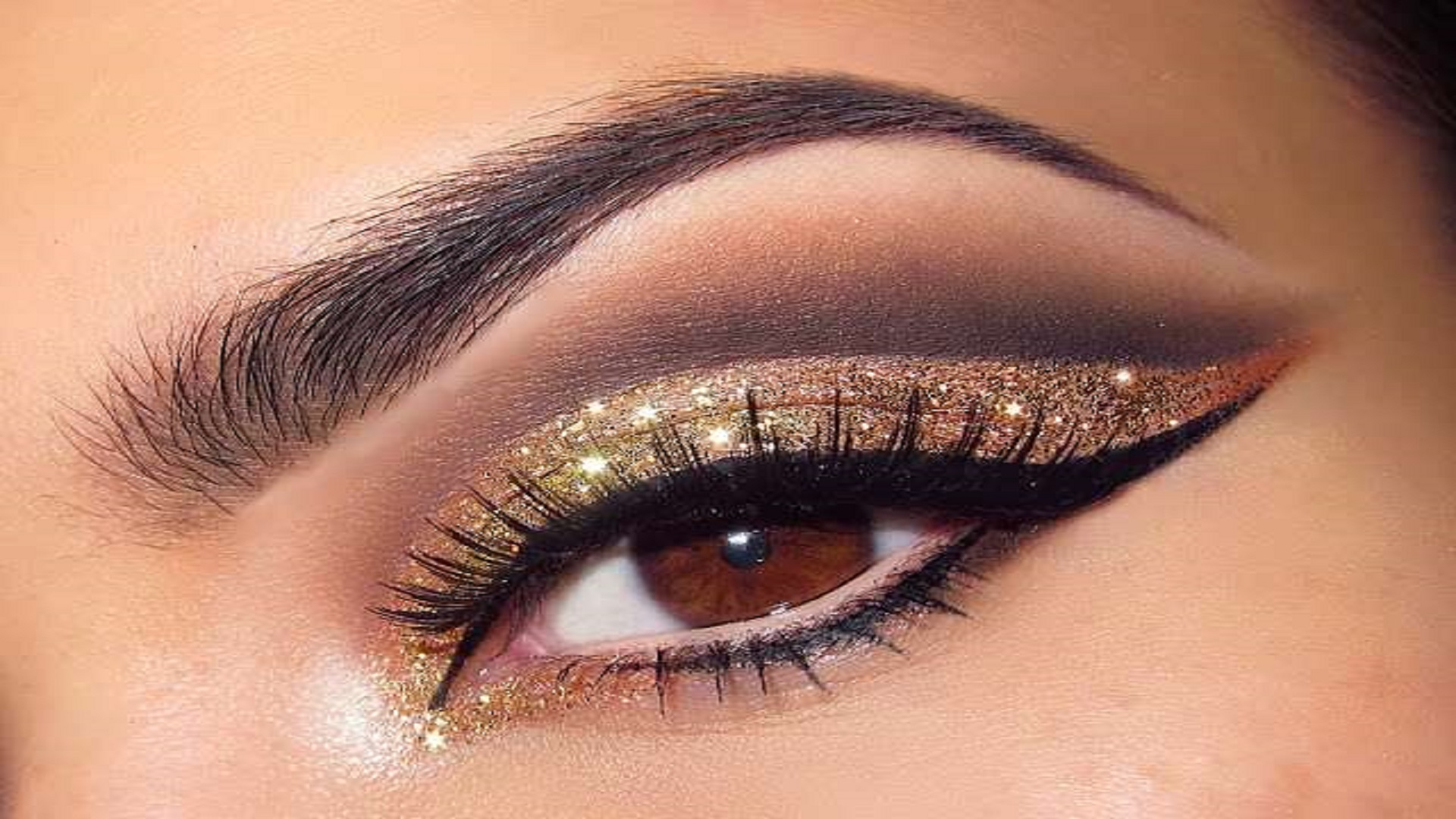 Glamorous Glitter Eye Makeup For You Hd Free Wallpapers For Desktop  on Images funny