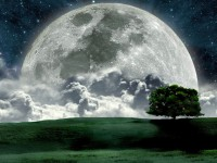 Beautiful Night Moon Photos HD Wallpaper Free