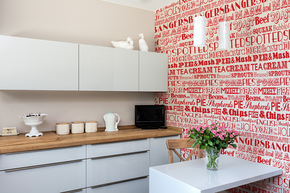 Kitchen wallpaper red look hd wallpaper for Kitchen wallpaper 3d