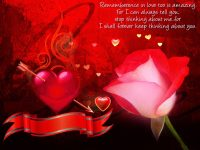 Red rose love quotes free wallpaper