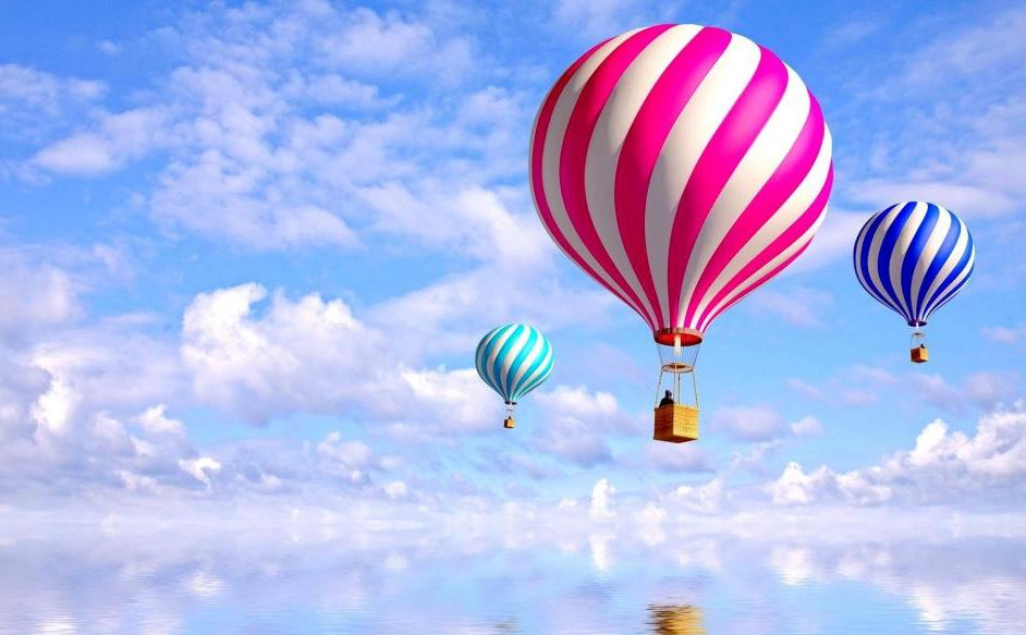 norway balloon beautiful scenery wallpaper
