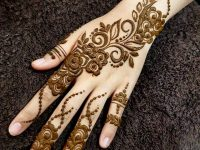 Easy mehndi design step by step