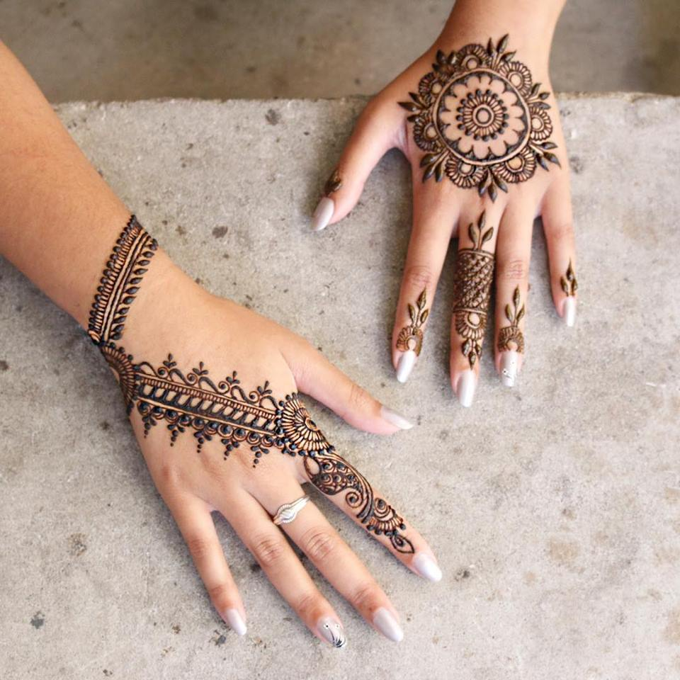 Easy mehndi designs step by step