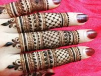 Mehndi designs for finger