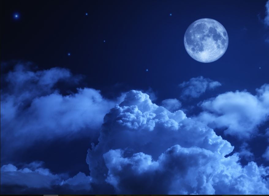 Blue Moon Night sky wallpaper