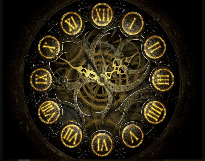 Cool steampunk clock image wallpaper