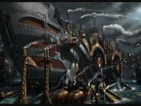 HD steampunk wallpaper