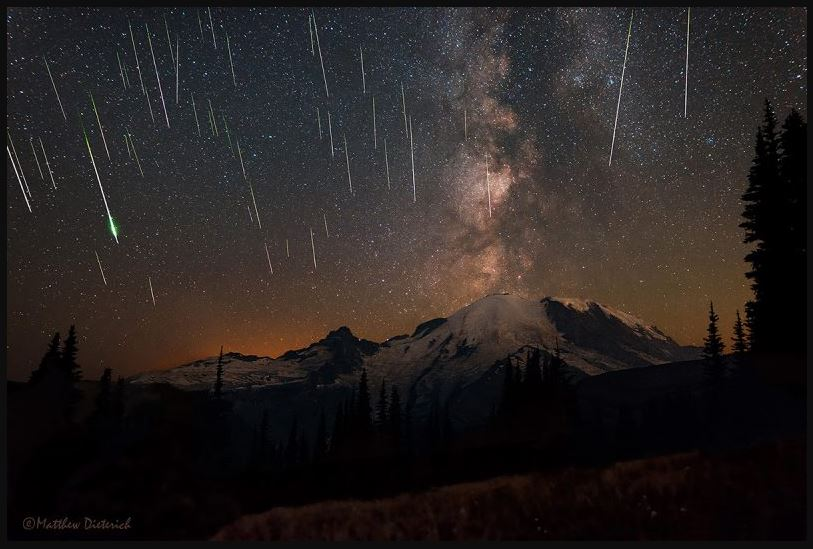 meteor showers tonight images