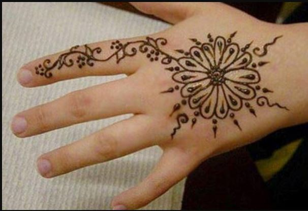 Simple Mehndi Patterns Wallpapers : New easy simple henna design hd wallpaper