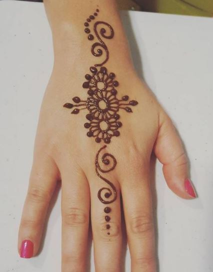 Simple hand henna pic