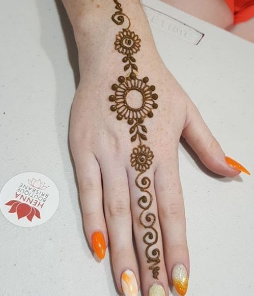 Mehndi Hands With Mobile : Simple henna tattoo hd wallpaper
