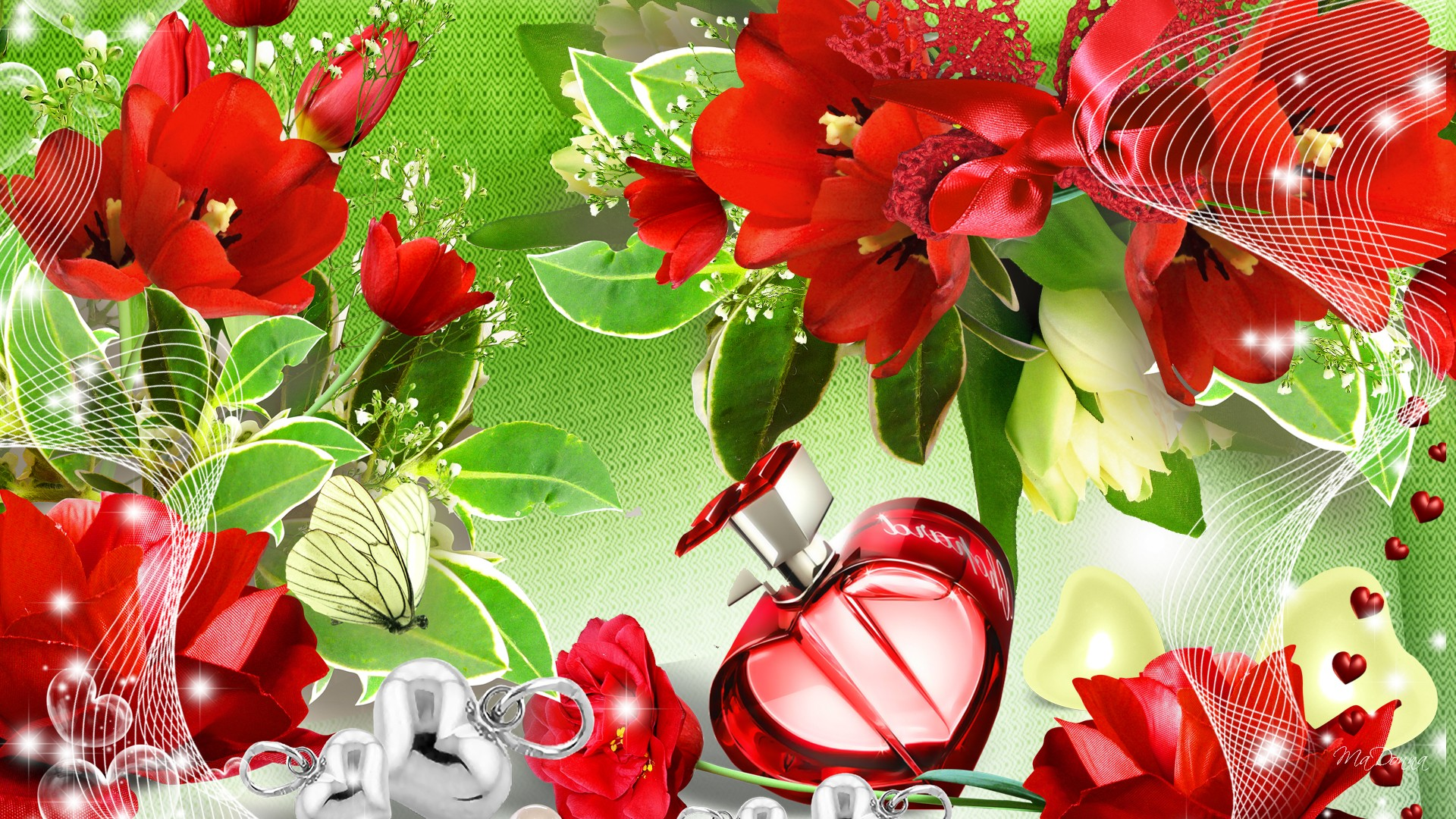 Beautiful Red Roses Free Hd Wallpaper Spring Season