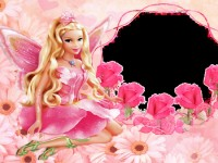Barbie-doll-with-pink-dress-wallpaper-free-hd