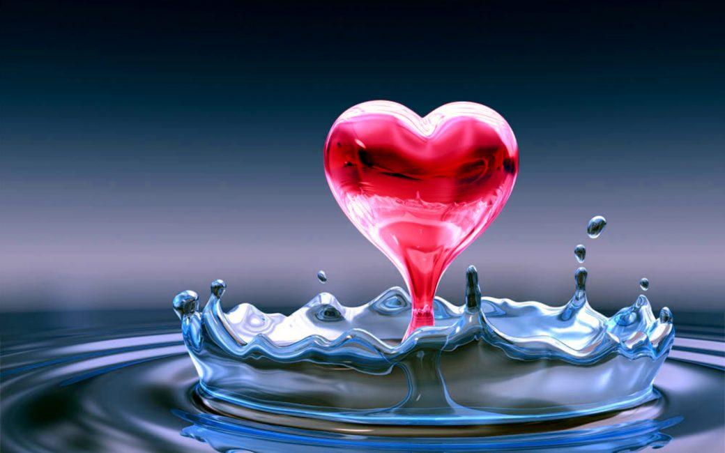 Water 3d Love Wallpaper Free Hd Hd Wallpaper