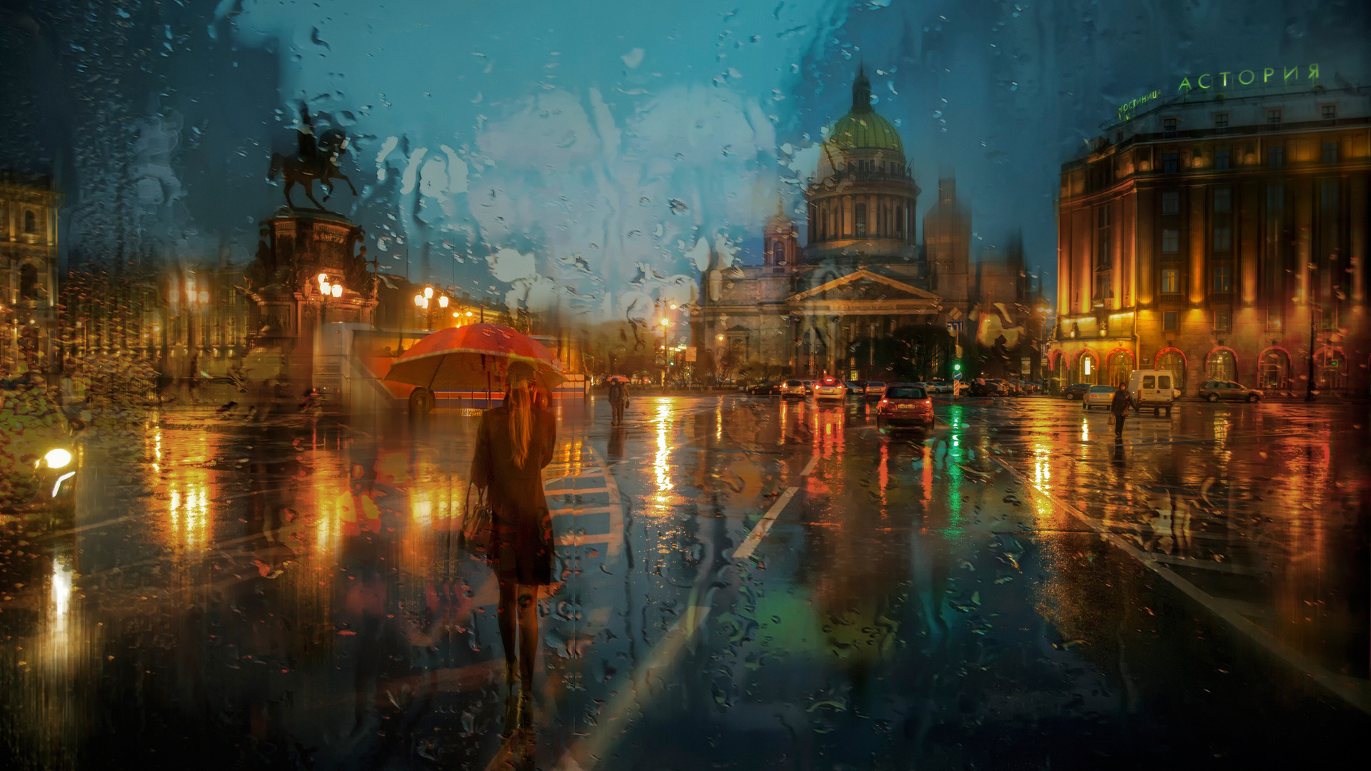 St Petersburg In Rainy Season Wallpaper