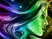 3D Abstract girl image