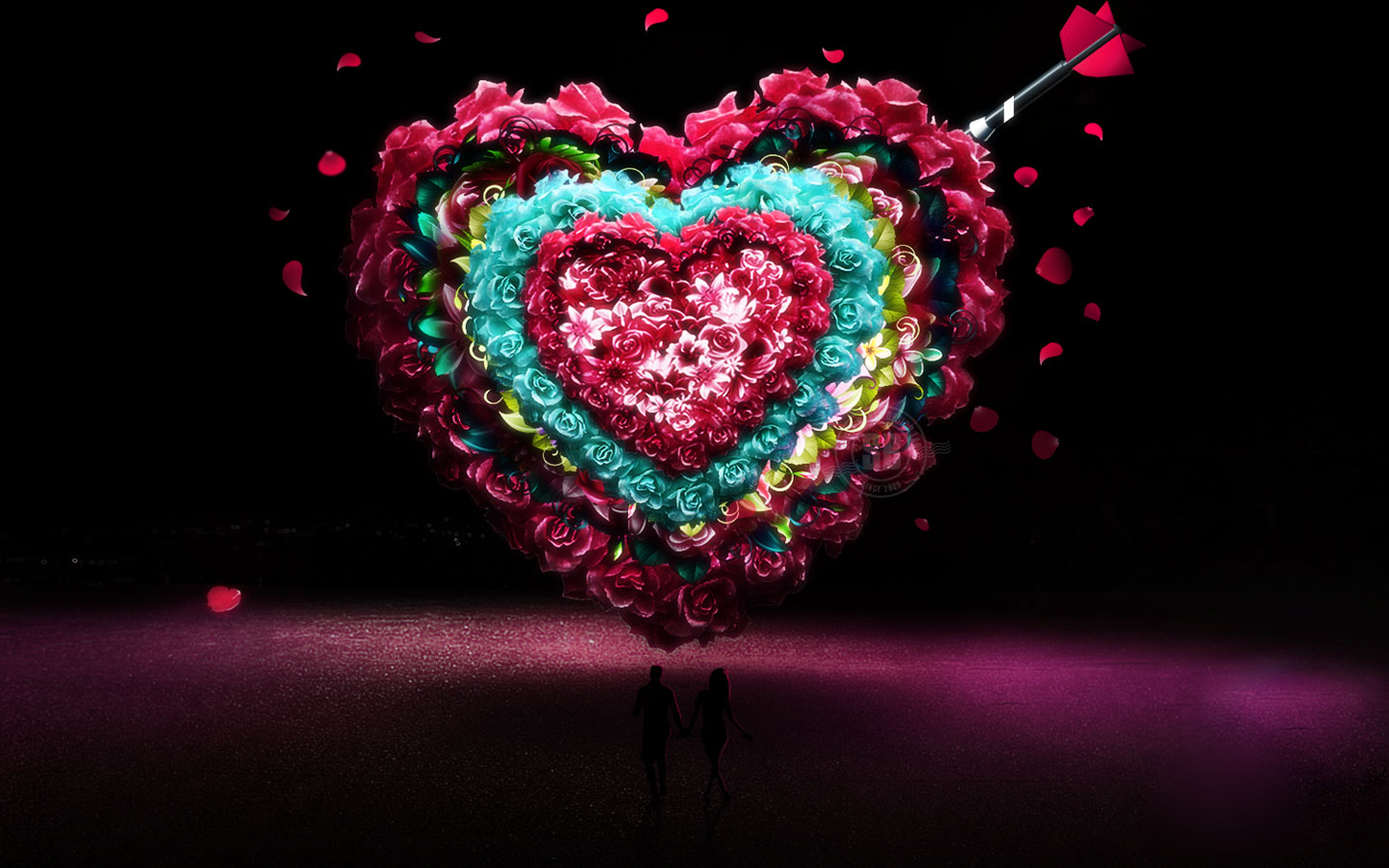 Lovely Heart Best Valentines Wallpaper Free Hd Wallpaper
