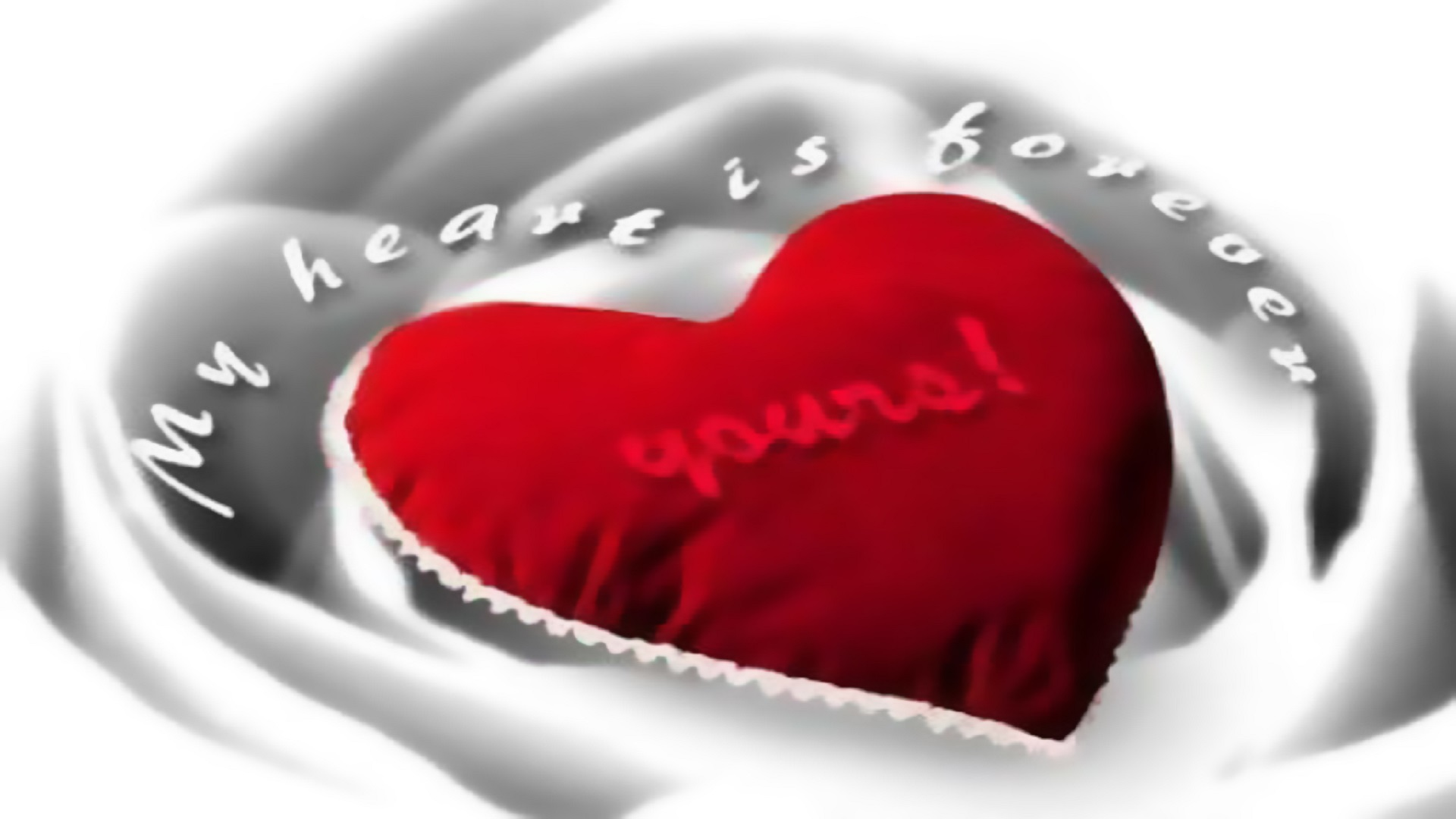 Amzaing Love Forever Red Heart Wallpaper