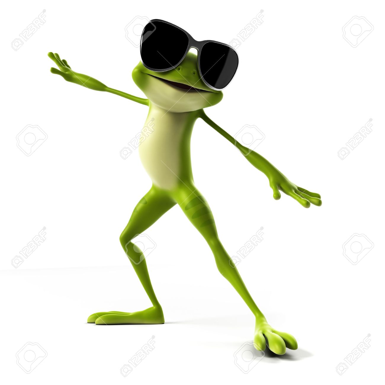 3d rendered illustration of a funny frog stock