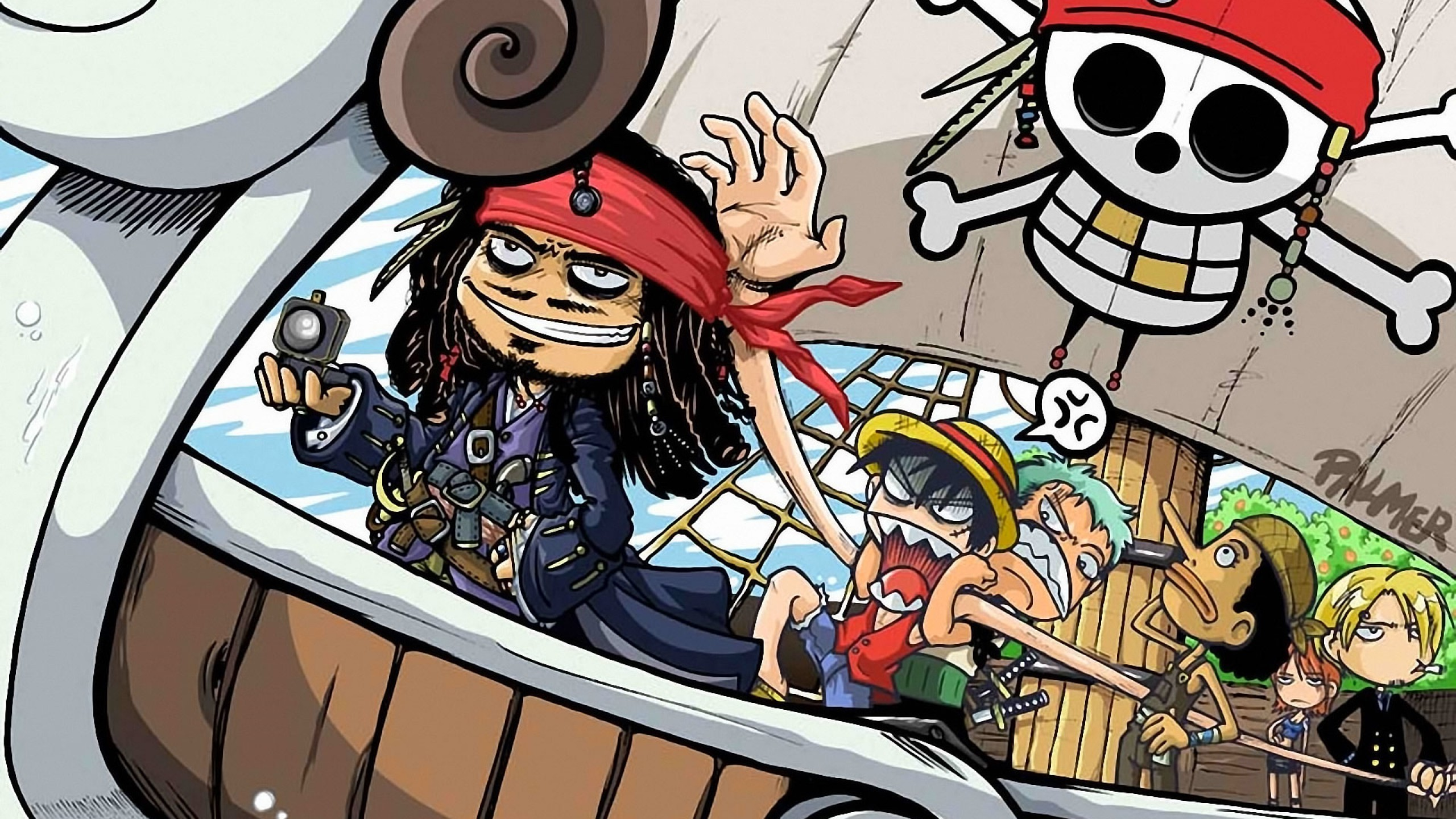 One Piece Wallpaper With Jack Sparrow Hd Free For Desktops Hd Wallpaper