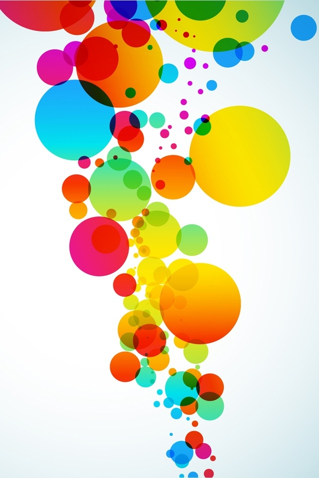 Colorful Abstract Dots Iphone Hd Wallpaper Free Beautiful