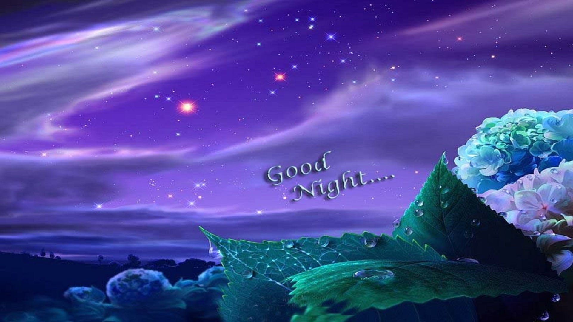 Good Night Purple Sky Wallpapers Free For Desktop Hd Hd Wallpaper