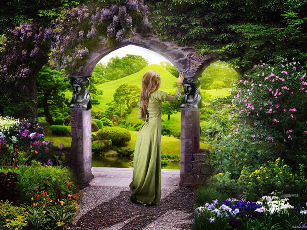Hd wallpaper garden -  Daydreaming Secret Garden Free Hd Wallpapers