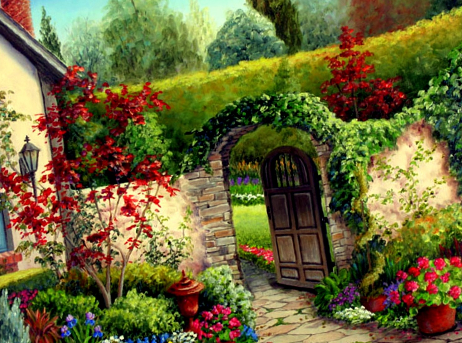 Garden landscape design photos garden free hd wallpapers for Flower garden landscape