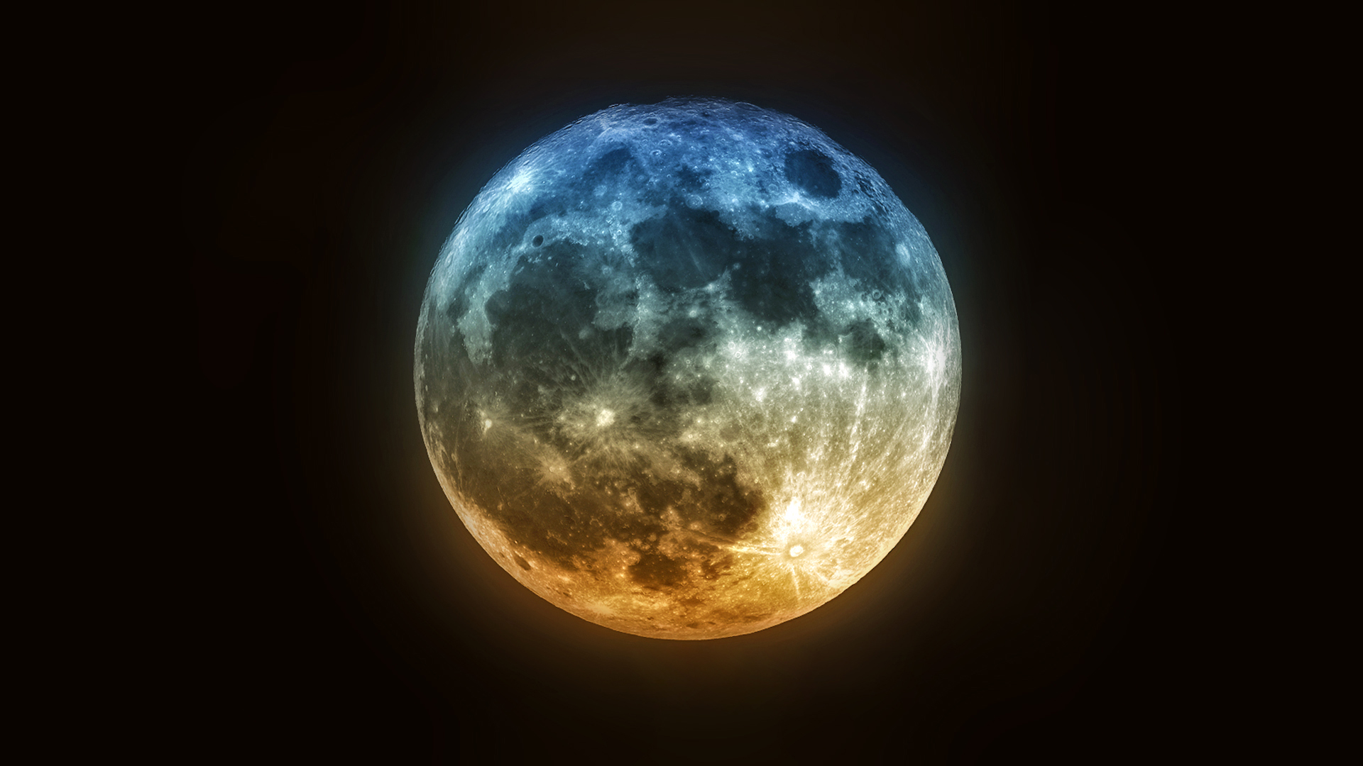 Blue And Red Moon Wallpaper Photos Free Hd