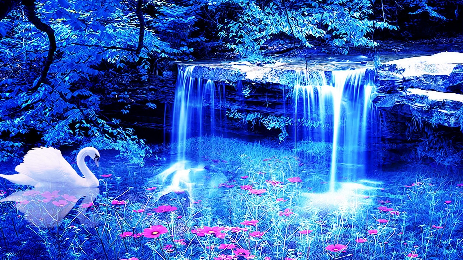 Beautiful Waterfalls Hd Wallpaper Background Free For Desktop
