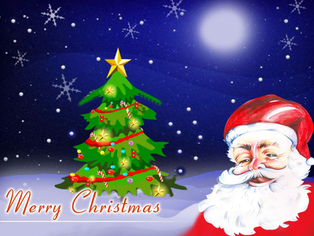 Christmas-Tree-With-Merry-Christmas-free-hd-wallappers-for