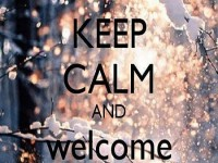 Welcome December Keep Calm Quote wallpaper