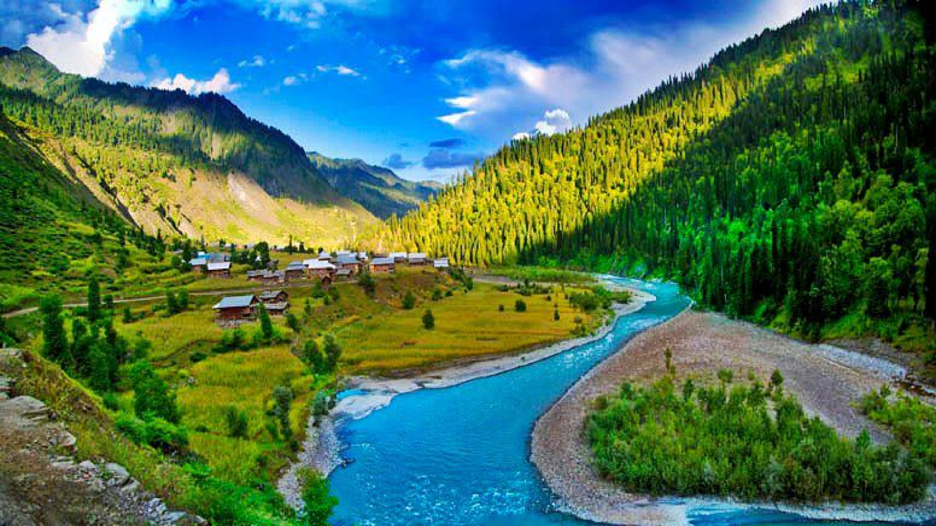 Neelum River Free Hd Wallpaper