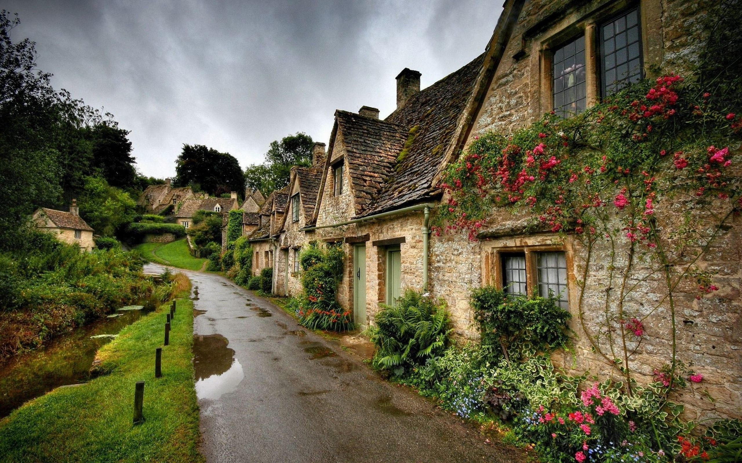 Bibury England Village Landscape Wallpapers Hd Free Hd Wallpaper