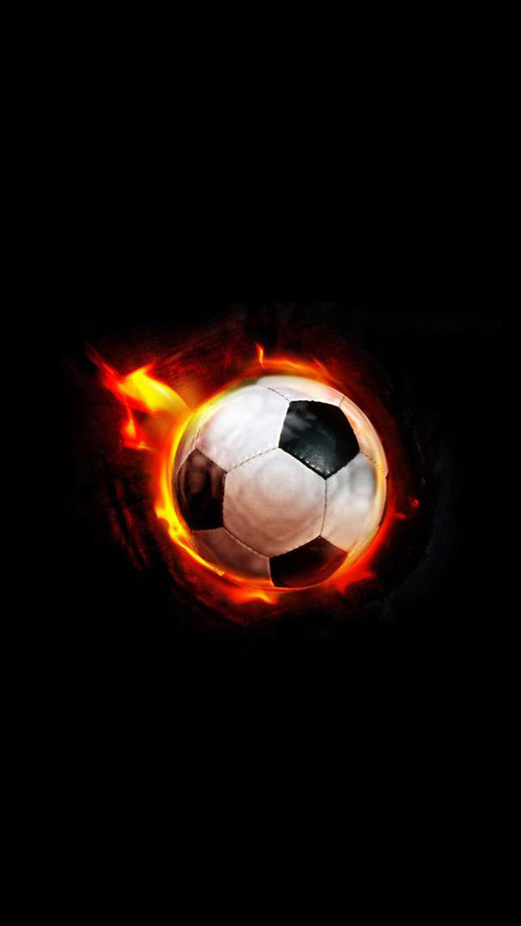 Fire Football Hd Free Wallpapers For Iphone Hd Wallpaper