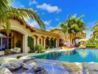 summer villa houses beautiful pools photography palm trees hd free wallpapers