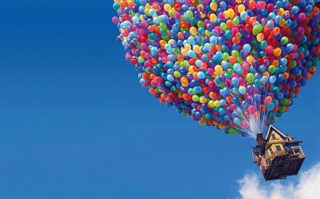 Balloons house cool desktop wallpapers hd wallpaper for Cool house wallpaper