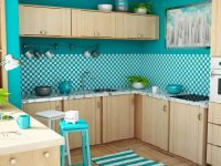 Blue Kitchen wallpaper ideas