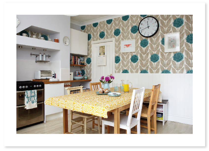 Floral Kitchen Wallpaper new trend