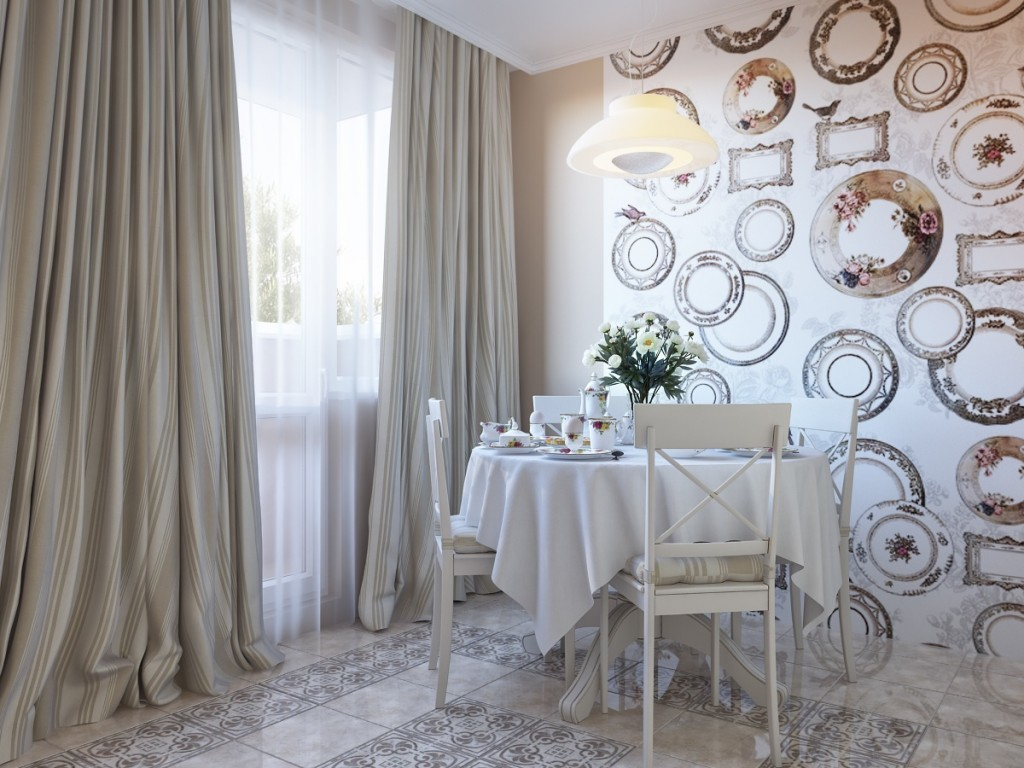 Kitchen And Dining Room wallpaper