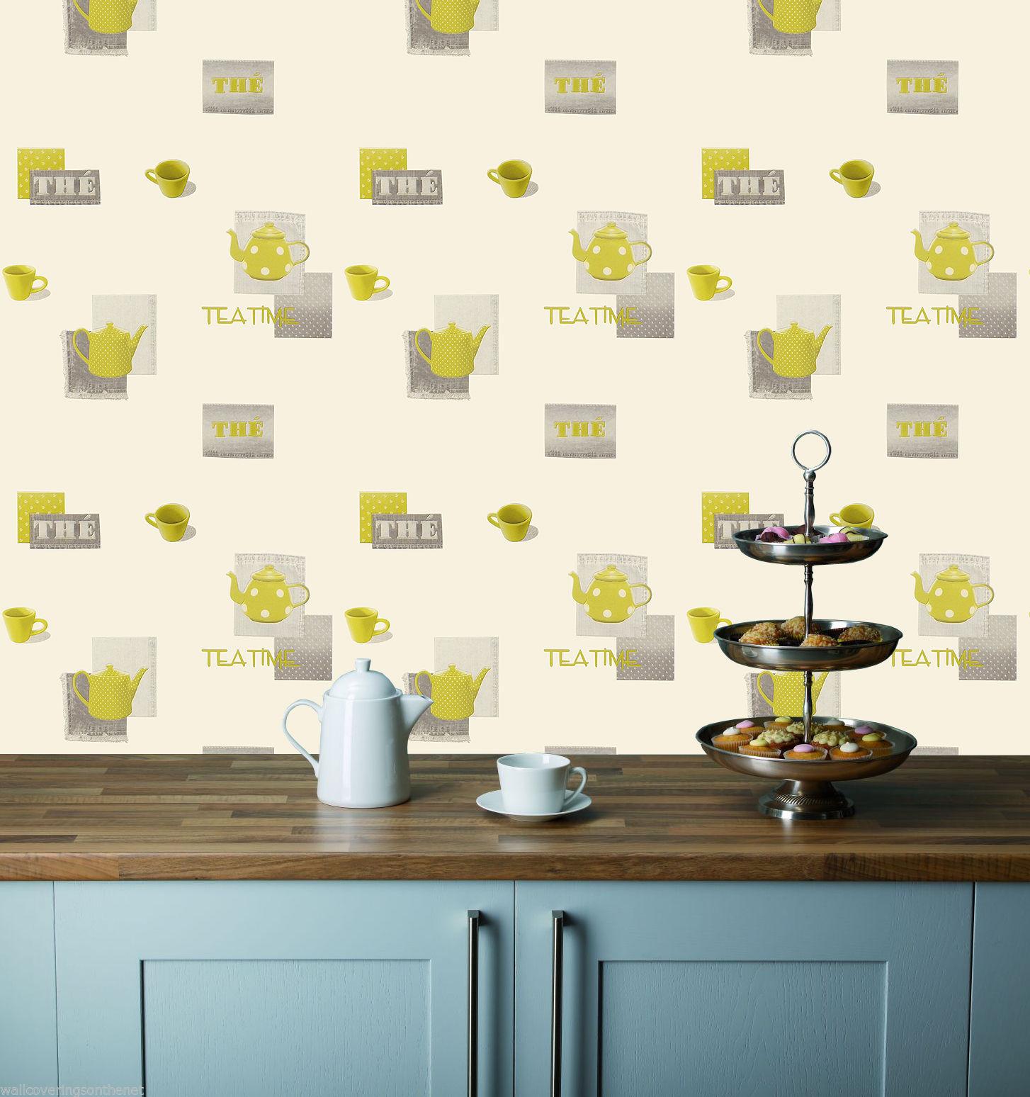Kitchen wallpaper idea new look