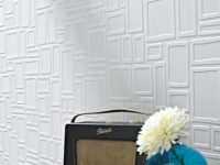 Large Squares Paintable Textured Wallpaper