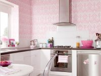 Cute Pink Kitchen Wallpaper