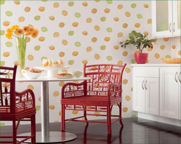 Polkadot Kitchen Wallpaper