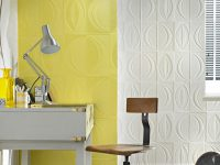 Yellow Paintable Textured Wallpaper