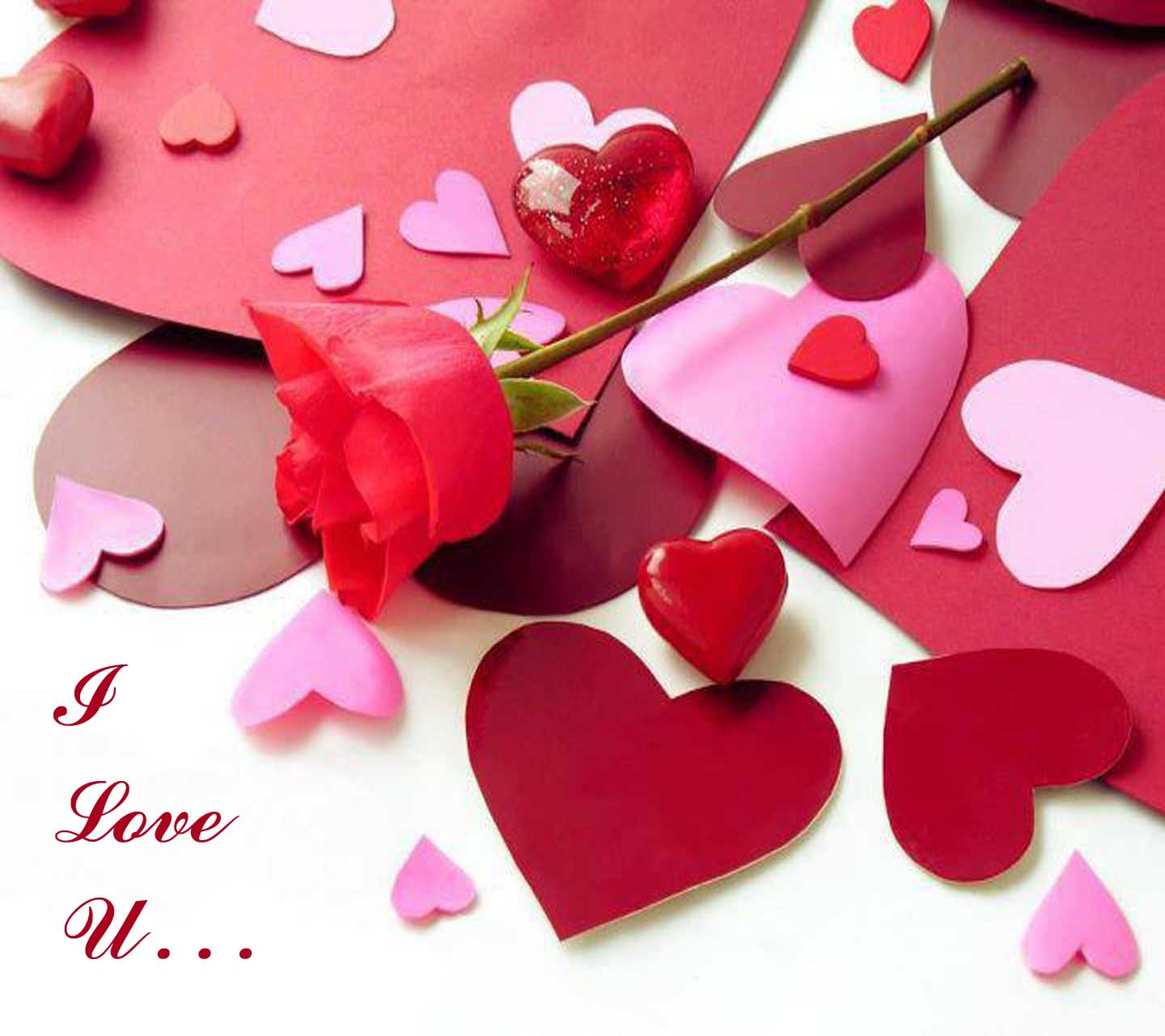 i love u heart wallpaper image download hd free