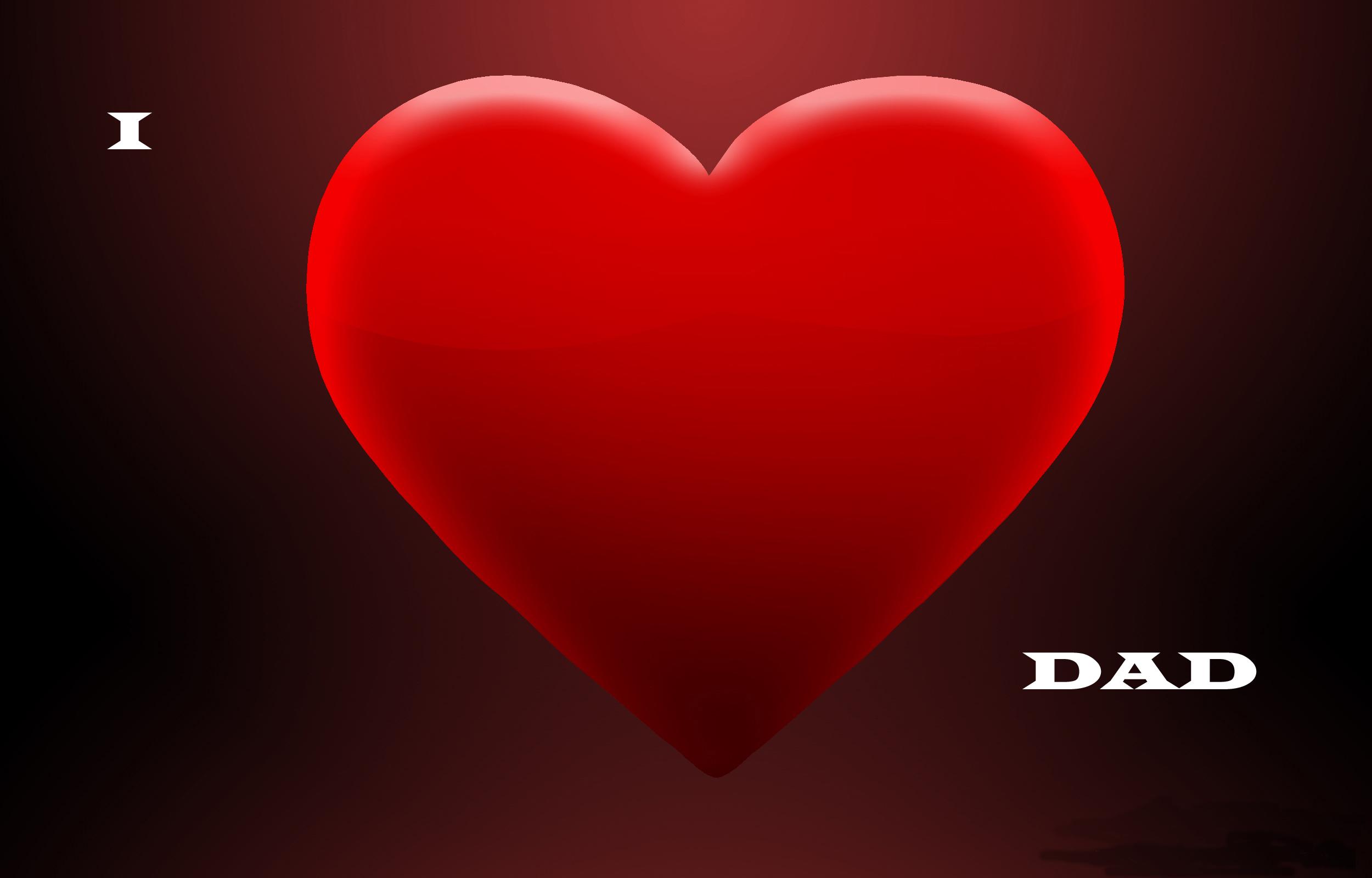 fathers day love heart wallpaper - hd wallpaper