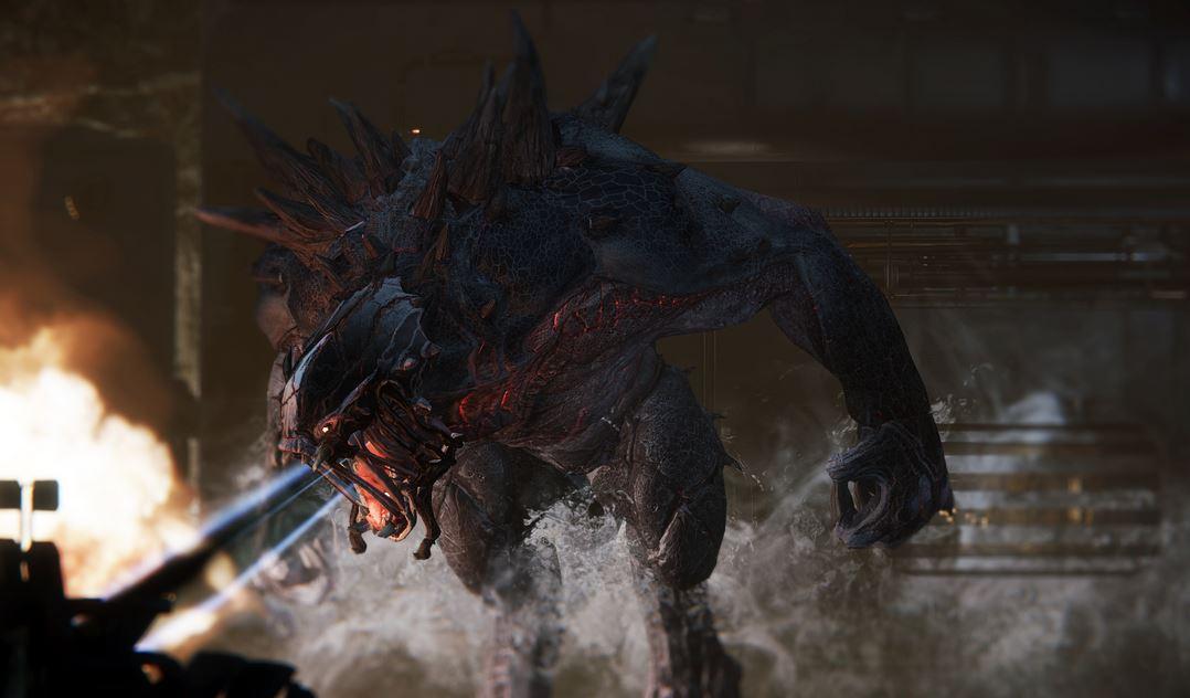 Evolve Game Fire Monster Wallpaper for PC
