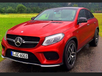 Red Mercedes benz gle hd wallpapers