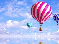norway balloon beautiful scenery wallpaper